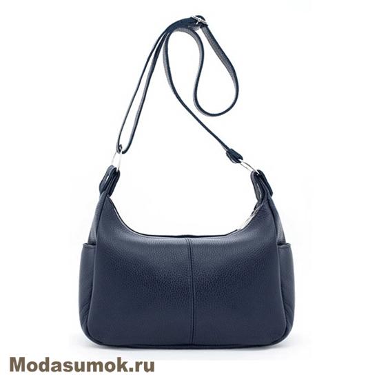 9feaa824c788 Женская сумка из натуральной кожи Protege Ц-266 синяя купить в ...